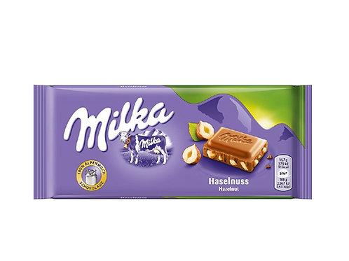 Milka Hazelnut Chocolate (100g)