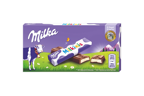 Milka Milkinis Alpine Milk Chocolate w/ Milk Creme Filling (87g)