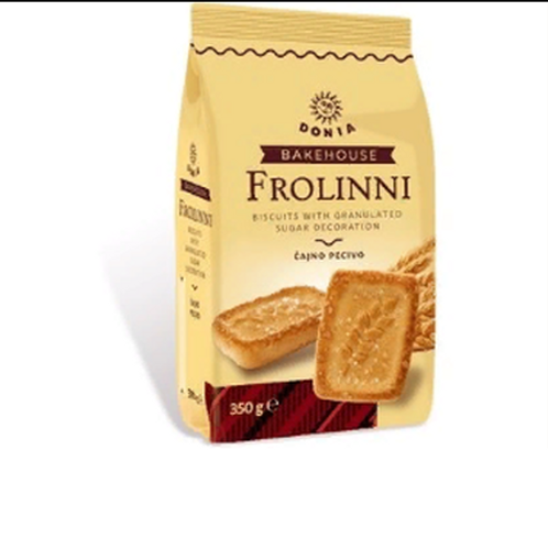 Donia Frolinni Biscuits w/ Granulated Sugar Decoration (350g)
