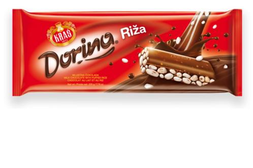 Kras Dorina Milk Chocolate w/ Puffed Rice (220g)