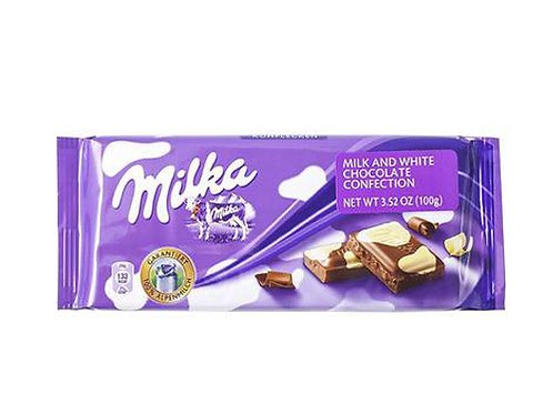 Milka Milk and White Chocolate Kuhflecken Cow Spots (100g)