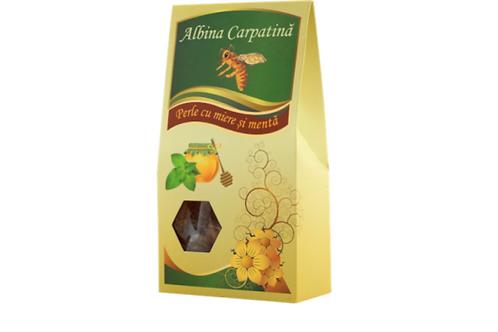 Albina Carpatina Honey Lozenges w/ Honey & Mint (100g)