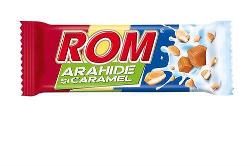 ROM Chocolate Bar w/ Rum Flavored Cream, Caramel & Peanuts (29g)