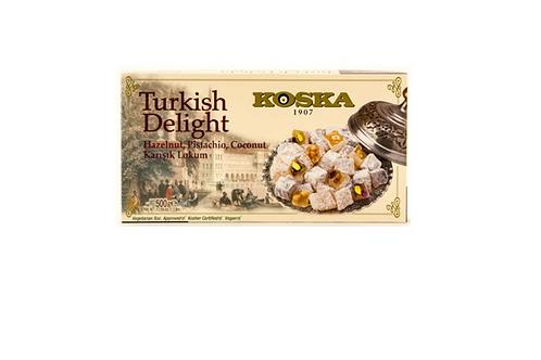 Koska Hazelnut & Pistachio Turkish Delight (500g)