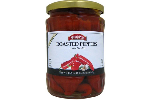 Marco Polo Roasted Peppers w/ Garlic (545g)
