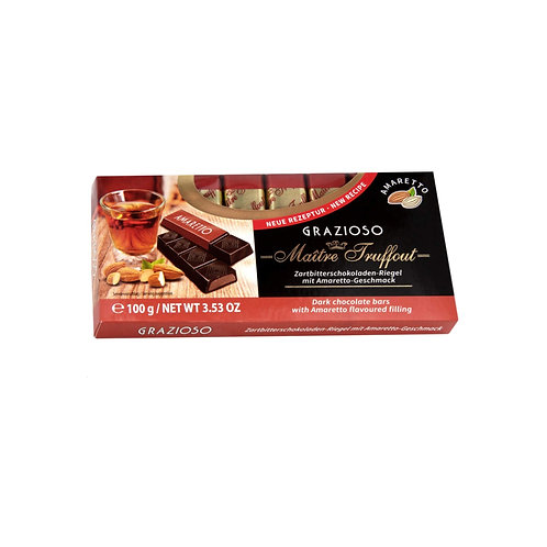 Maitre Truffaut Grazioso Dark Chocolate Bars w/ Amaretto Filling (100g)