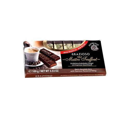 Maitre Truffaut Grazioso Dark Chocolate Bars w/ Espresso Filling (100g
