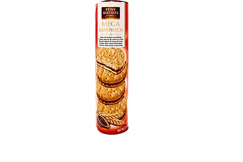 Feiny Biscuits Mega Sandwich Cookies with Cocoa Cream (500g)