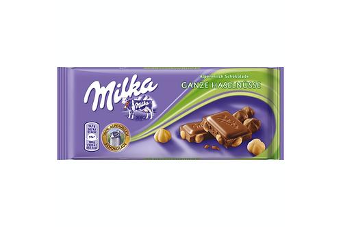 Milka Whole Hazelnuts Ganze Chocolate Haselnusse (100g)