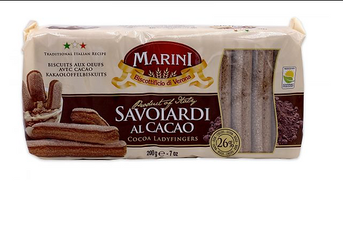 Marini Savoiardi Cocoa Ladyfingers (200g)