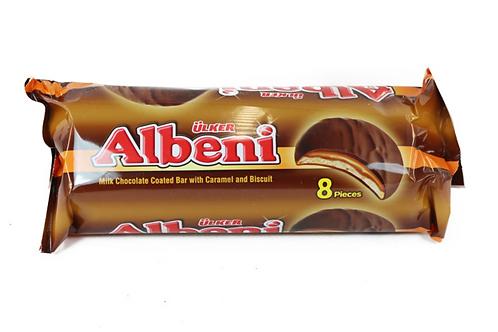 Ulker Albeni Milk Chocolate Coated Bar w/ Caramel & Biscuit 8pcs (344g)