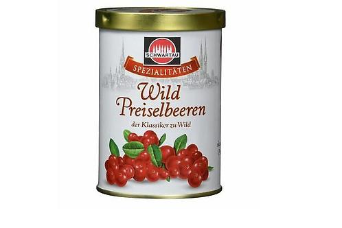 Schwarte Wild Lingonberry Preserve Wild Preiselbeeren (330g)
