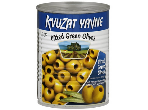 Kvuzat Yavne Pitted Green Olives (540g)