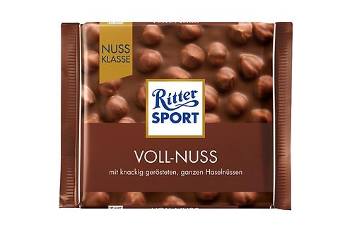 Ritter Sport Milk Chocolate w/ Whole Hazelnuts (100g)