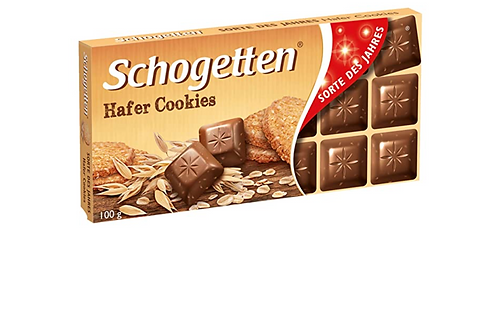 Schogetten Milk Chocolate w/ Oatmeal Cookies (100g)