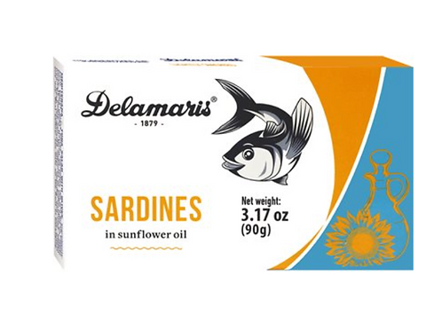 Delamaris Sardines in Sunflower Oil 90g