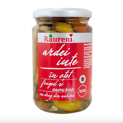 Raureni Hot Peppers in Vinegar Ardei Iute in Otet (280g)
