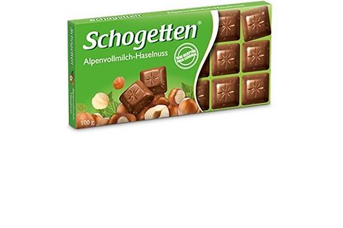 Schogetten Milk Chocolate w/ Hazelnuts Edel-Alpenvollmilch-Haselnuss (100g)