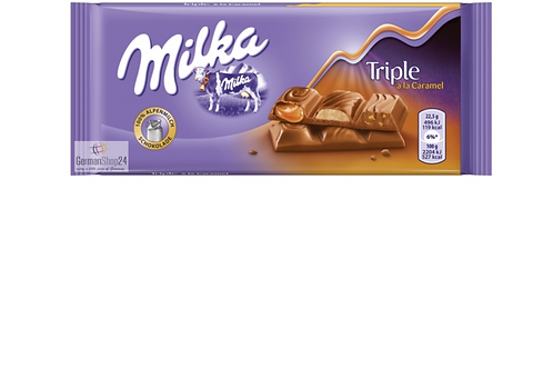 Milka Triple Caramel Chocolate (100g)