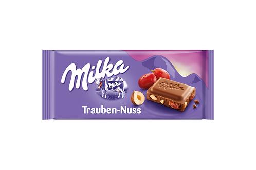 Milka Milk Chocolate Raisins & Nuts Trauben-Nuss (100g)