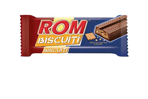 ROM Chocolate Bar w/ Rum Flavored Cream & Cookies (29g)