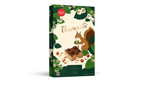 Laima Vaverite Squirrel Wafer Cake w/ Crumbled Hazelnuts (500g)