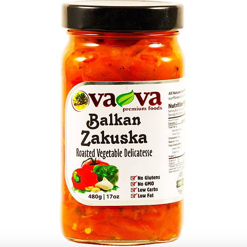 VaVa Balkan Zacusca Roasted Vegetable Delicatesse (480g)