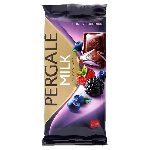 Pergale Milk Chocolate w/ Forest Berries Filling (100g)