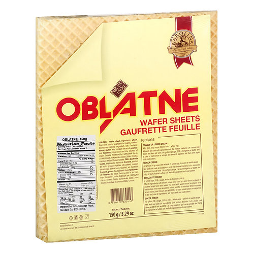 Karolina Oblatne Wafer Sheets (150g)