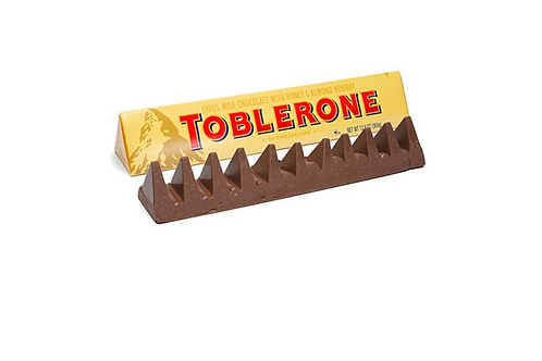 Toblerone Swiss Milk Chocolate w/ Honey & Almond Nougat (100g)