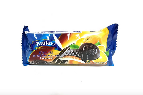 Krakus Chocolate Covered Biscuits w/ Apricot Jelly Cookies (135g)