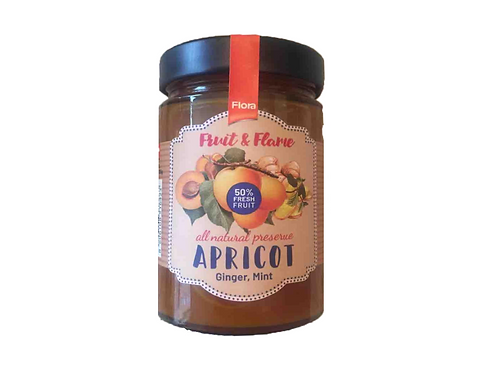 Fruit & Flame All Natural Apricot, Ginger, Mint Preserve (335g)
