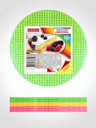 Lekorna Round Cake Wafer Sheets Rainbow (90g)