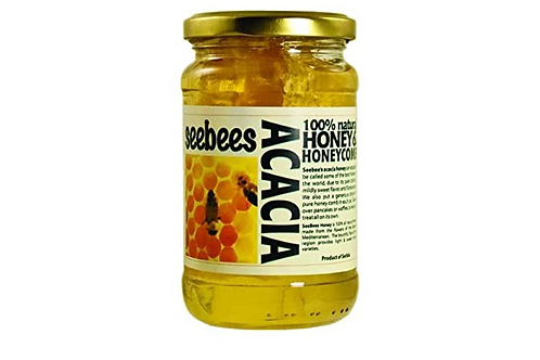 Seesbees Acacia Raw Honey w/ Honeycomb (450g)