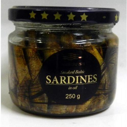 Amberfish Smoked Baltic Sardines in Oil (250g)
