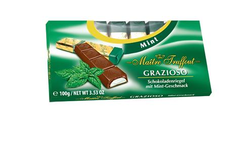 Maitre Truffaut Grazioso Dark Chocolate Bars w/ Mint Filling (100g)