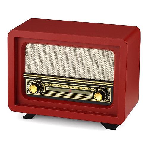 Nostaljik Ahşap Radyo Beyoğlu Kırmız / Nostalgic Wood Radio Beyoğlu Red