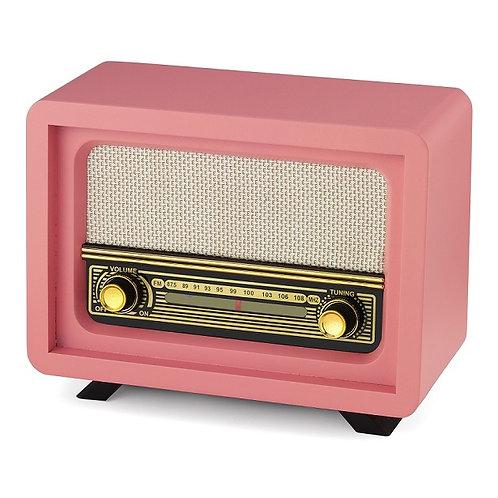 Nostaljik Ahşap Radyo Beyoğlu Pembe / Nostalgic Wood Radio Beyoğlu Pink
