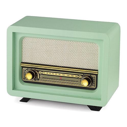 Nostaljik Ahşap Radyo Beyoğlu Yeşil / Nostalgic Wood Radio Beyoğlu Green