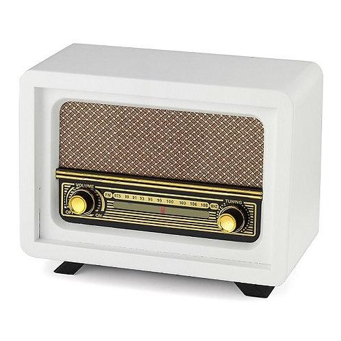Nostaljik Ahşap Radyo Beyoğlu Beyaz / Nostalgic Wood Radio Beyoğlu White