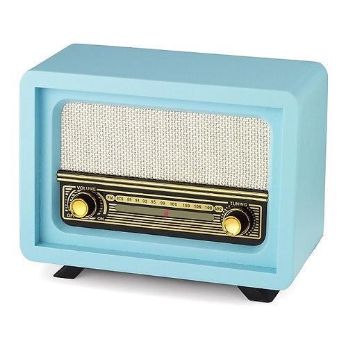 Nostaljik Ahşap Radyo Beyoğlu Mavi / Nostalgic Wood Radio Beyoğlu Blue