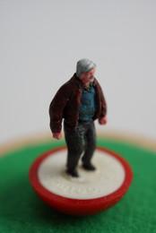 Dad customised Subbuteo figure