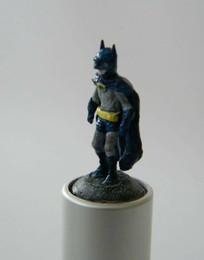 Pocket statue (Batman) Old lipstick case, plastic, paint