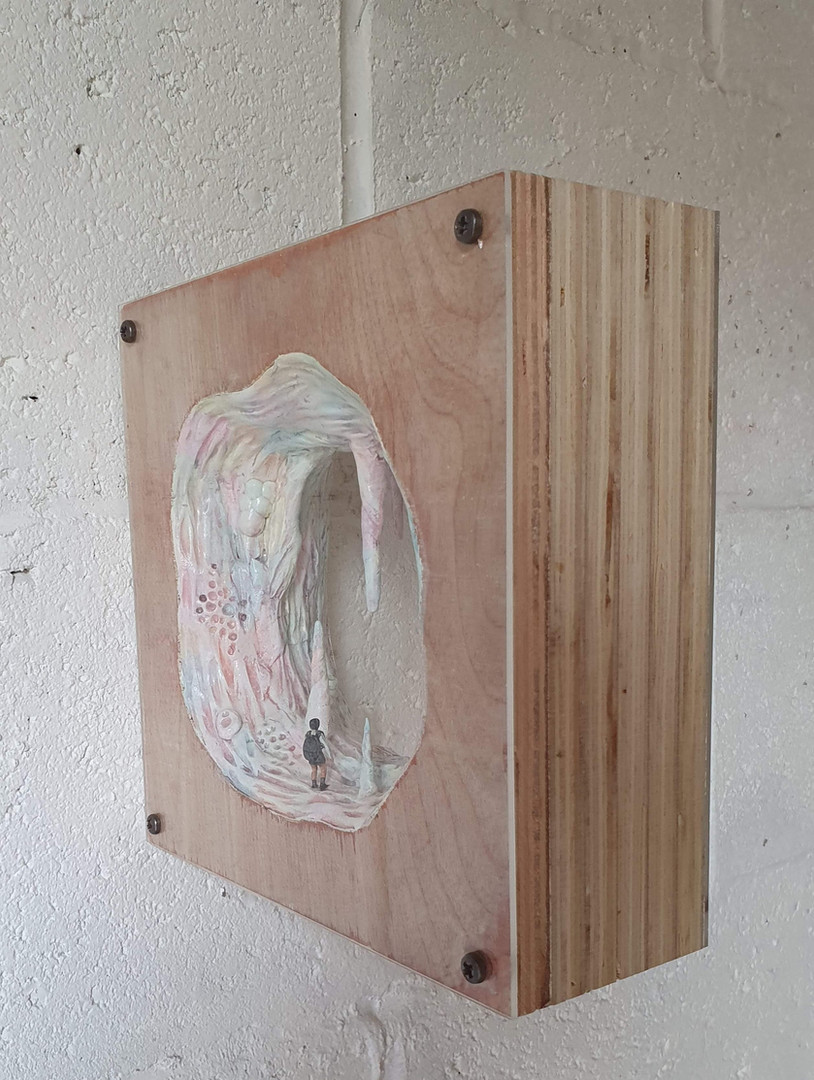 The Cave Plywood,resin  2020