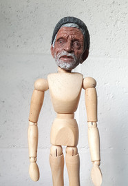 The Morrocan  Polymer clay, paint, artist's mannequin 2020