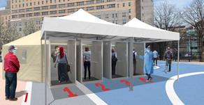 Diseñan cabinas de detección pop-up en #NuevaYork