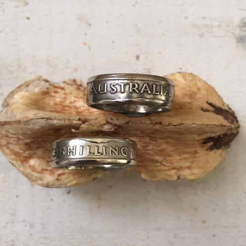 Coin Ring Australian Shilling