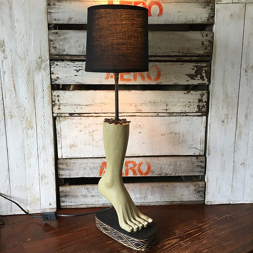 Wooden Foot Lamp
