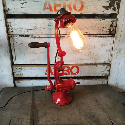 Vintage Grinder Lamp Gloss Red (SOLD OUT)