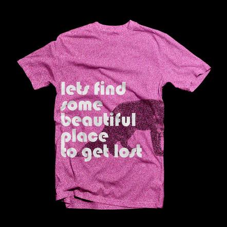 Pink Lost Print T-Shirt
